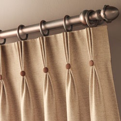 Pinch pleat tops for curtains