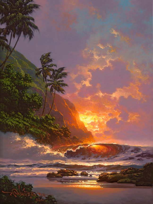 A Different Drummer: Roy Gonzalez Tabora: Hawaiian Seascape Painter
