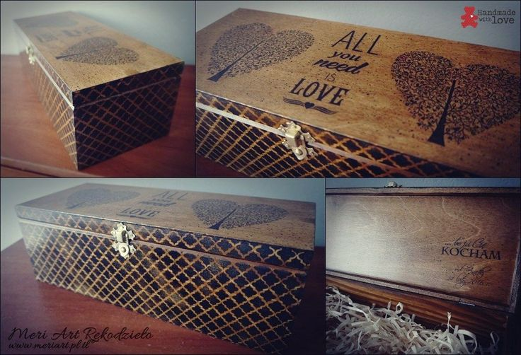 Handmade wooden box for whiskey, walentines gift for men ;)