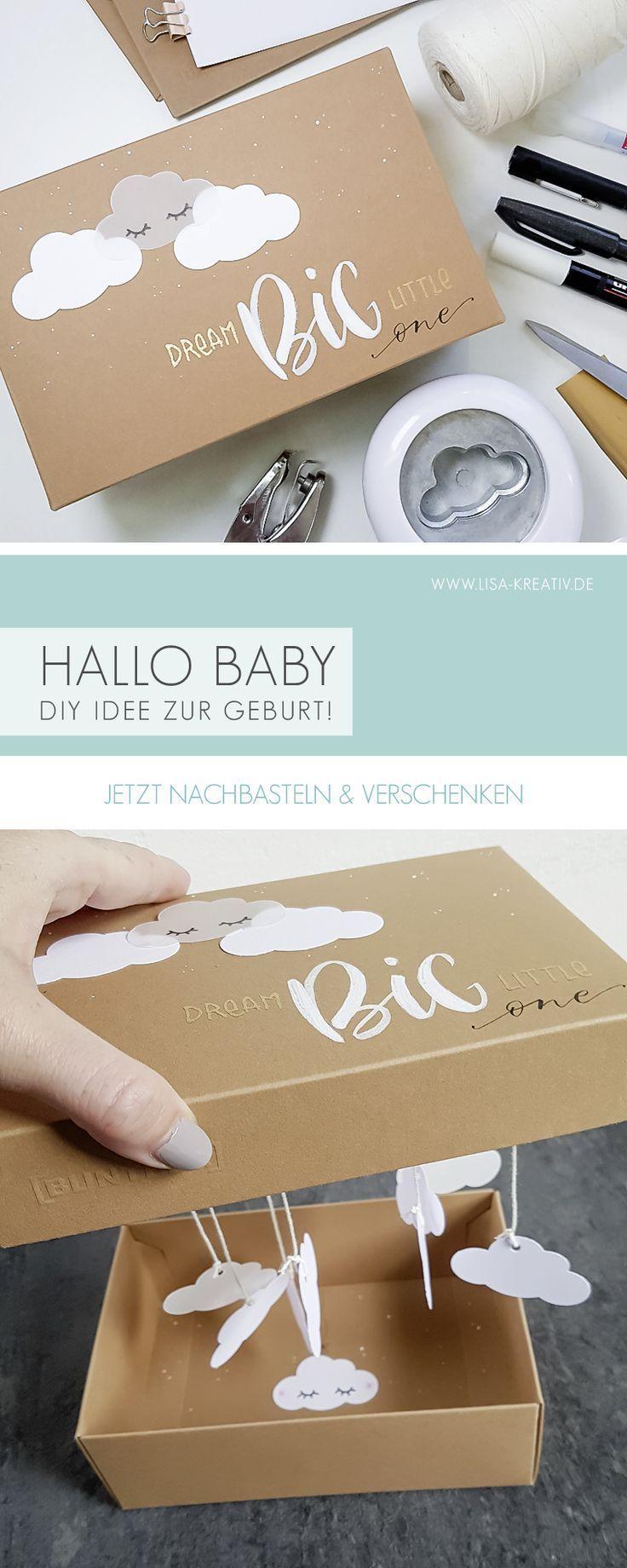 Geschenkbox zur Geburt! Schnell und einfach selbstgemacht! Du mein mein DIY vid …   – DIY Basteln & Selbermachen