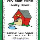 """""""Very Short Stories - Reading Pictures"""" introduces the vocabulary terms, problem and solution, to the K-1-2 emergent reader. Twenty very short situations are included with a graphic on each page."""