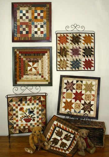 "Quilt Squares #1 is a series of small quilts. Frame the quilts using 12""x 12"" readymade frames. Designed by Lori Smith of From My Heart to Your Hands"