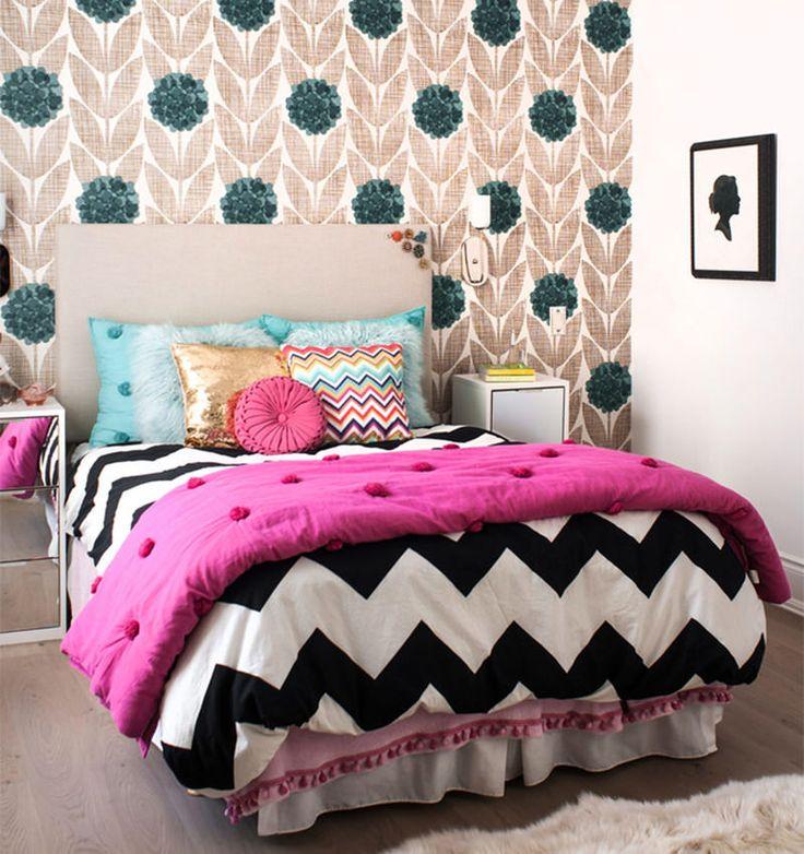 Roupa De Cama: Dicas Para Melhorar A Decoração De Seu Quarto. Teen BedroomsKids  BedroomGirl Bedroom DesignsChevron ... Part 85
