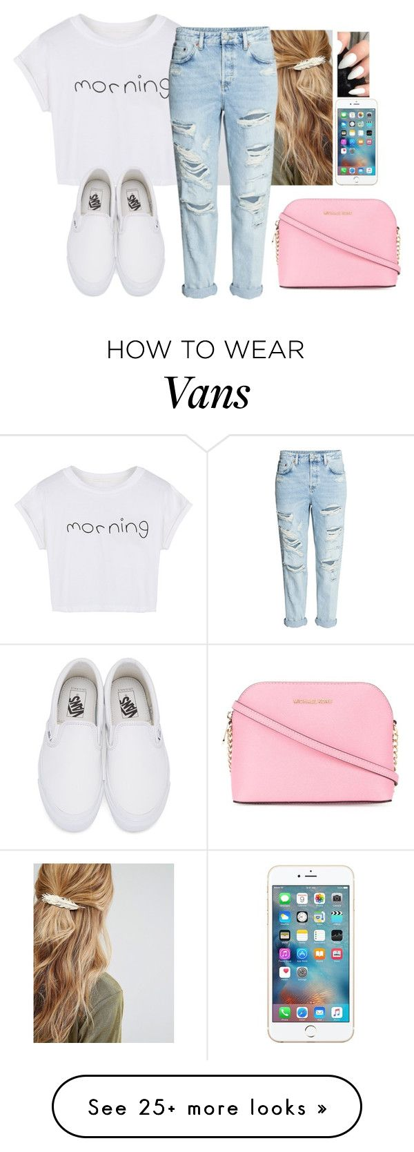 """""""Be cool✌"""" by hannahmcpherson12 on Polyvore featuring Johnny Loves Rosie, WithChic, Vans and MICHAEL Michael Kors"""