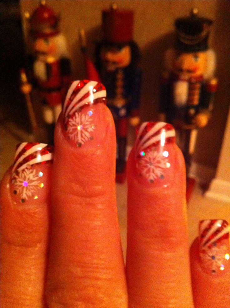Christmas Nails 2011. Solar nails