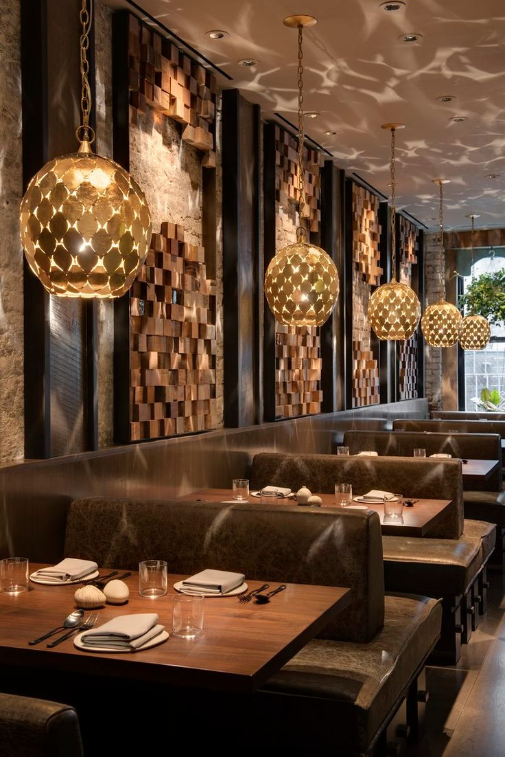 Glamorous and exciting restaurant decor | Modern ...