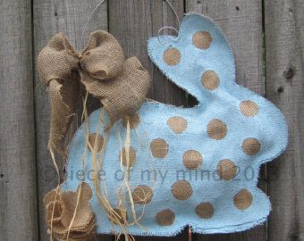 spring burlap door hangers - Google Search