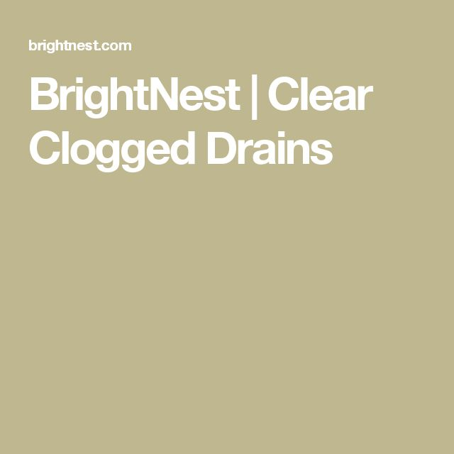 Apartment Kitchen Sink Clogged: 20+ Best Ideas About Clogged Drains On Pinterest