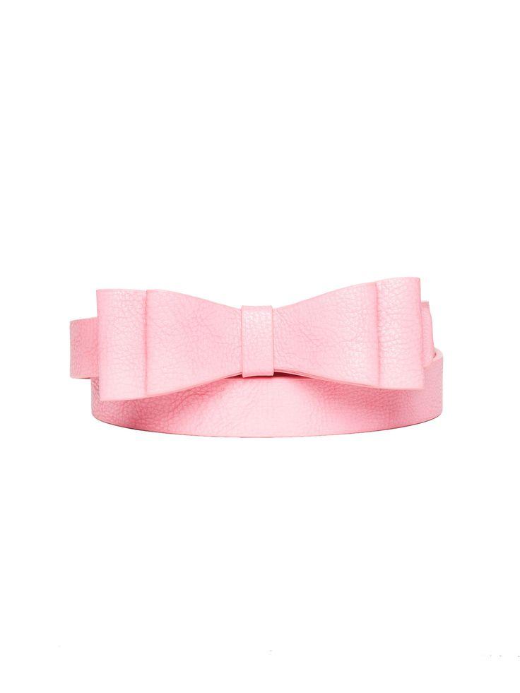 Maddie Bow Belt Papaya L