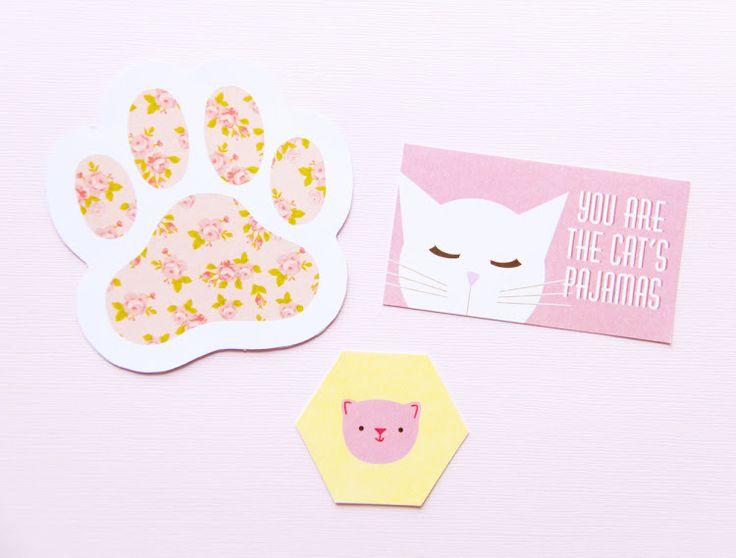 links for FREE cat party printables!    fete gazette