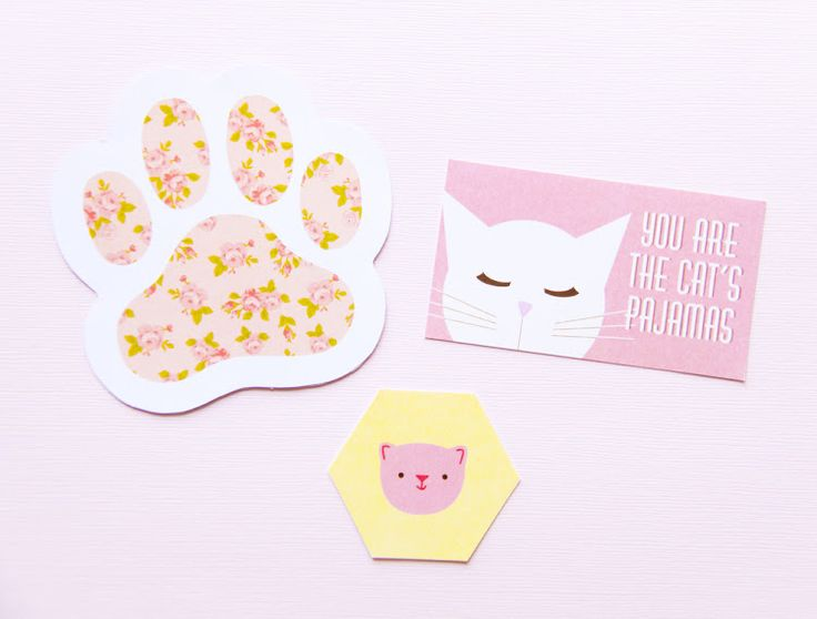 links for FREE cat party printables!  | fete gazette