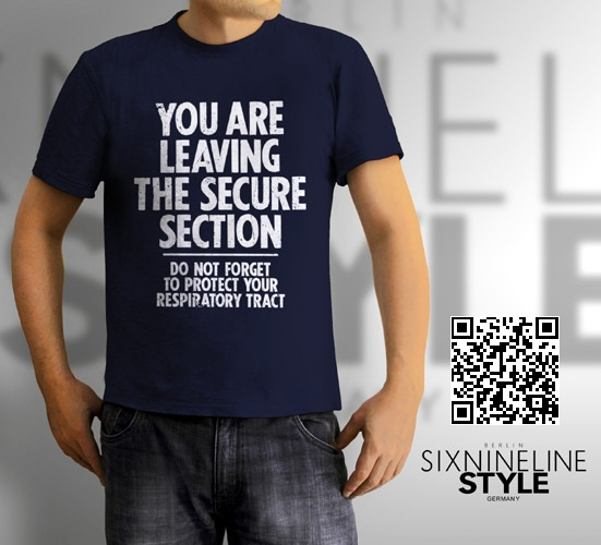 Secure Section T-Shirt http://www.spreadshirt.de/secure-section-white-C4408A21230740