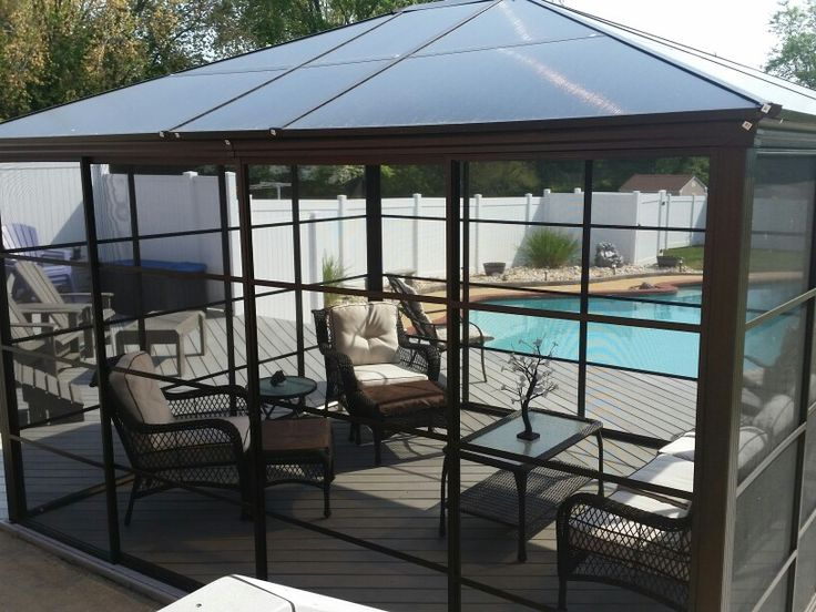 Screen Room Solarium Costco Pool Landscape Pinterest
