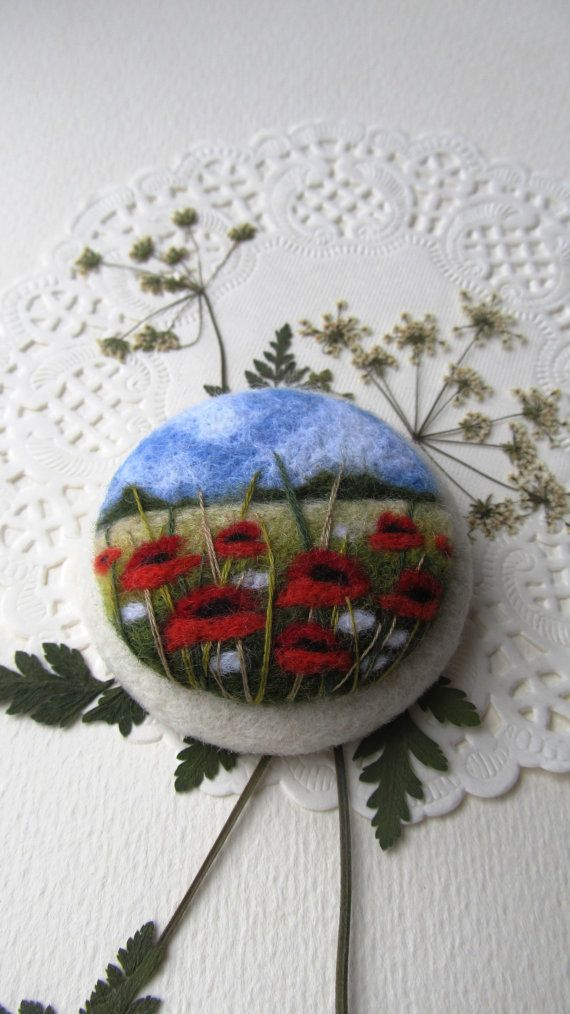 Hey, I found this really awesome Etsy listing at https://www.etsy.com/listing/224268131/needle-felted-brooch-with-embroidery