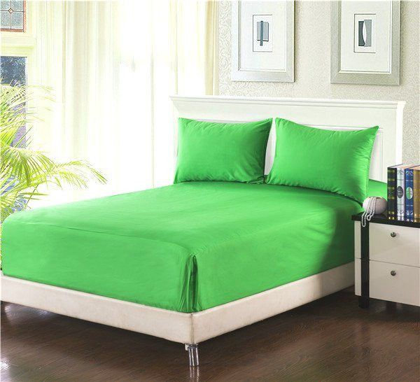 Tache 2-3 Piece Lime Green Bed Sheet (Fitted Sheet)