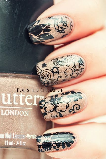 Butter London - All Hail The Queen MoYou London stamping manicure nail art konad stamping