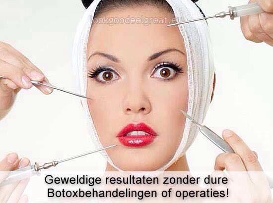 Geen botox nodig!