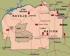 Map of Navajo Nation