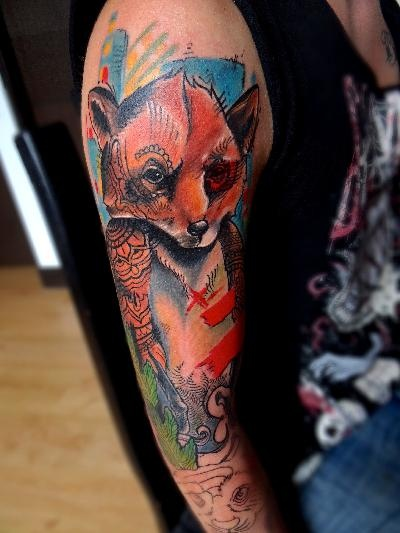 Annnnnnd another: FOX TATTOO DANIEL ACOSTA LEON , BOGOTA, COLOMBIA