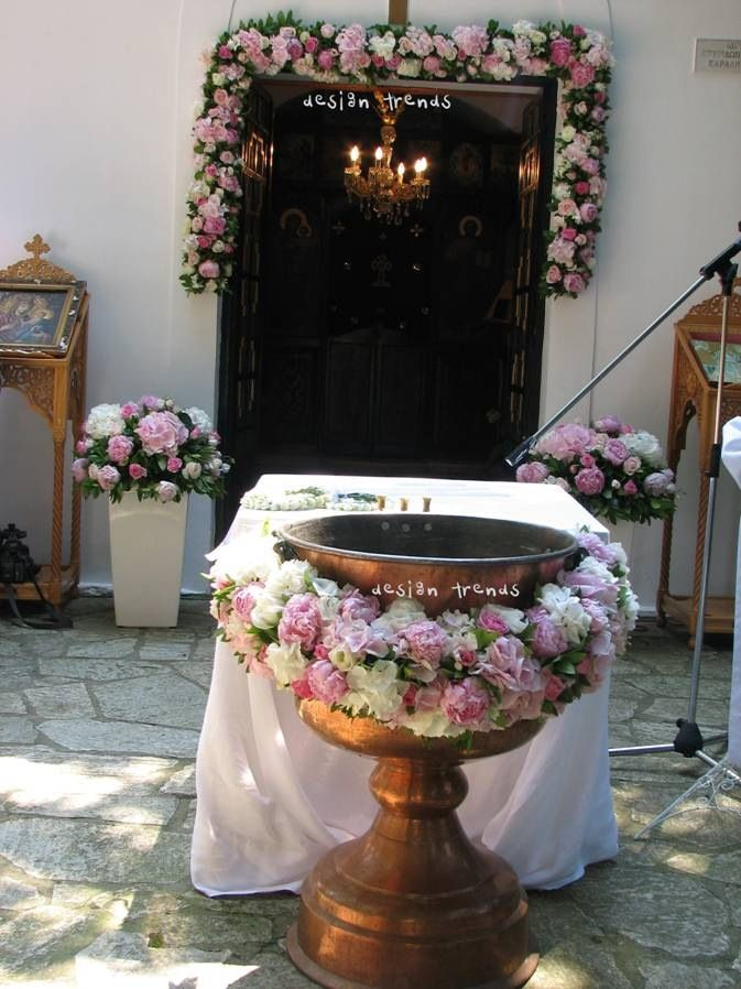 Flower arrangements for a baby girl's christening.  Συνθέσεις για βάπτιση μικρούλας @ ktima pendelikon.