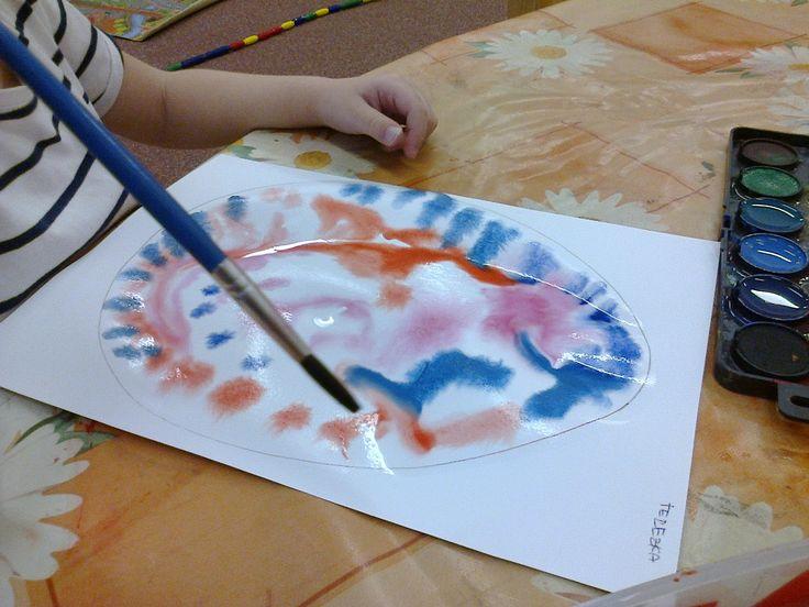 malování na vodní ploše