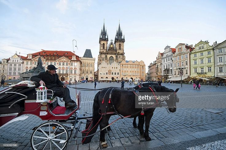 one of the most famous locations in prague is the old town square.there are several acrhitectural marvels in this area and it is a very popular tourist location.horse carts,open cars,bikes are all available for people visiting the city here.