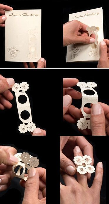 fold up laser cut paper ring                                                                                                                                                     More