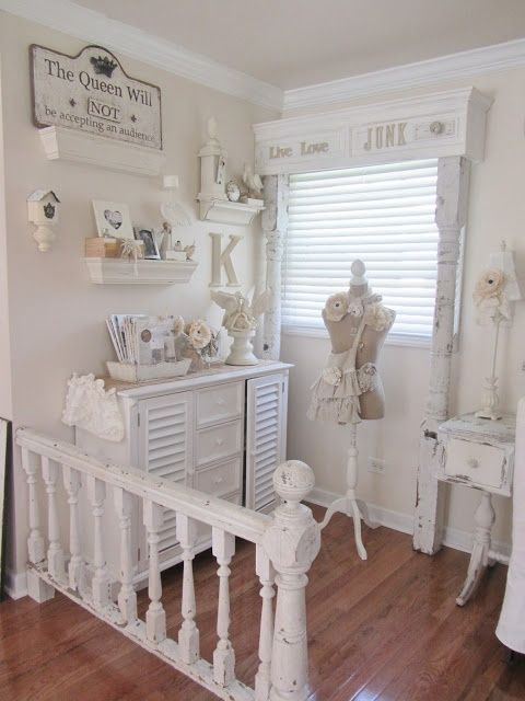 Junk Chic Cottage - great cornice board