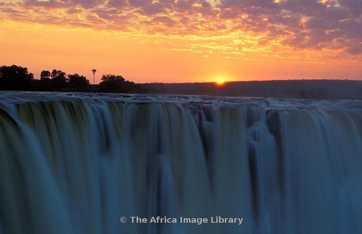 Victoria Falls at sunrise, Victoria Falls National Park, Zimbabwe
