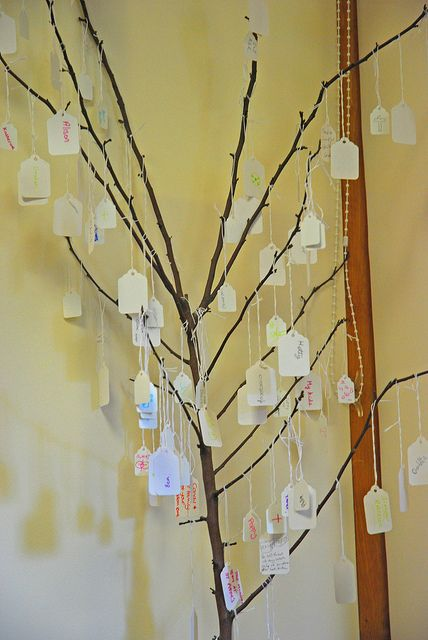 If you have children or work with children/youth, try and keep a constant prayer tree with plenty of blank labels. This will encourage children to pray without being prompted as they know they can go up to it at any one time, write a prayer on it and hand it on a branch. Adults like using them too in worship and if you already have a house plant, you might enjoy using it too.