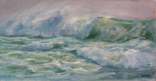 Colleen Caubin's wave paintings