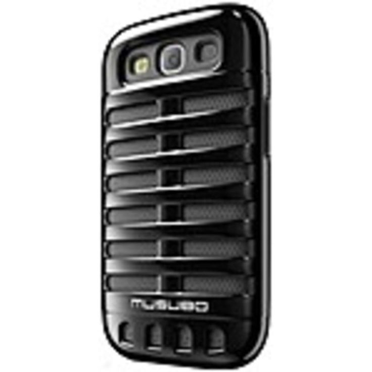 Smart IT Musubo Retro Case for Samsung Galaxy S3 - Smartphone - Black - Polycarbonate, Silicone