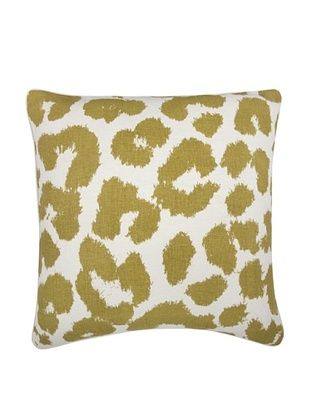 47% OFF Thomas Paul Leopard Feather Pillow, Ochre