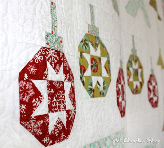 Introducing Vintage Ornaments, the newest block in the Deck-ade the Halls Quilt-Along!
