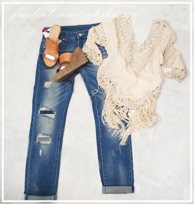 feel romantic .... shoes:39.90euro jean:35euro knitted shirt:29.90euro