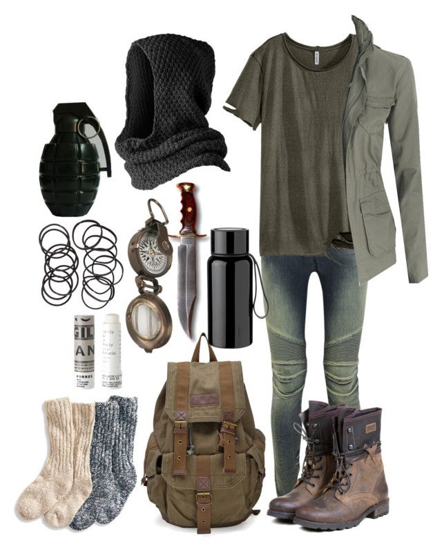 The Scorch Trials Outfit by lili-c on Polyvore featuring H&M, Balmain, P-L-D-M by Palladium, Pieces, Korres, Dot & Bo and Stelton