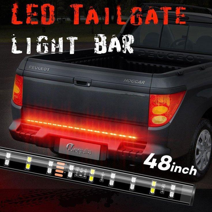 48 led truck tailgate light bar strip redwhite reverse