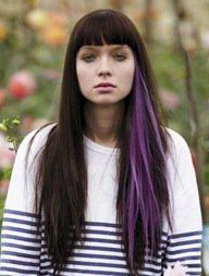 I've been wanting to do a purple streak (or two) through the under layer of my…