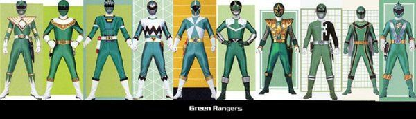 Green Rangers by ~TommyOliver5 on deviantART