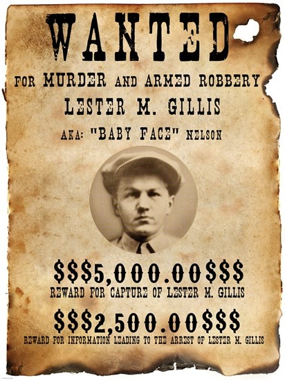 Baby Face Nelso Wanted Poster - Unknown