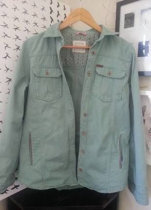 Koszulowa kurtka khaki Pull & Bear