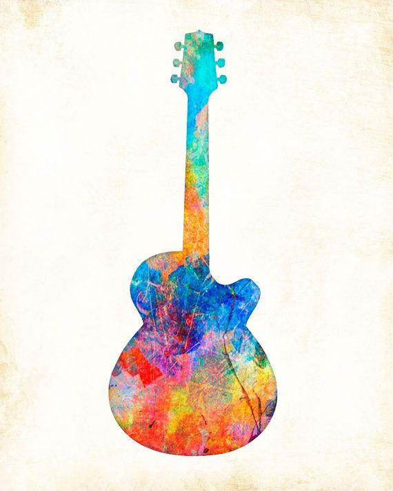 """Watercolor Guitar"" is a Signed Art Print from the original illustration of Artist Dan Morris. The artwork is featured on giftware, stationery, and fabrics. Dan Morris is known for his stylized, realistic illustration and use of bold colors. Brighten up any wall space in your home or office with this stunning art print hand signed by the artist. •Premium Heavyweight Fine Art matte paper, acid free, and printed with Archival inks. • Signed by the Artist. *Available in multiple sizes. • All…"