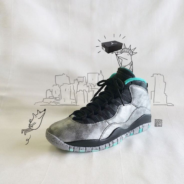 "[Nike Air Jordan 10] ""Lady Liberty"" ""It is still standing on Liberty Island in New York Harbor."""