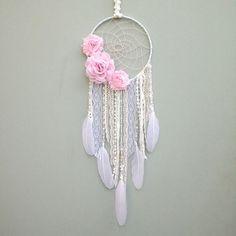 Flor atrapasueños, encargo hecho por inspiración alma tienda en Etsy. Atrapasueños decoración es hermosa para cualquier dormitorio, vivero o