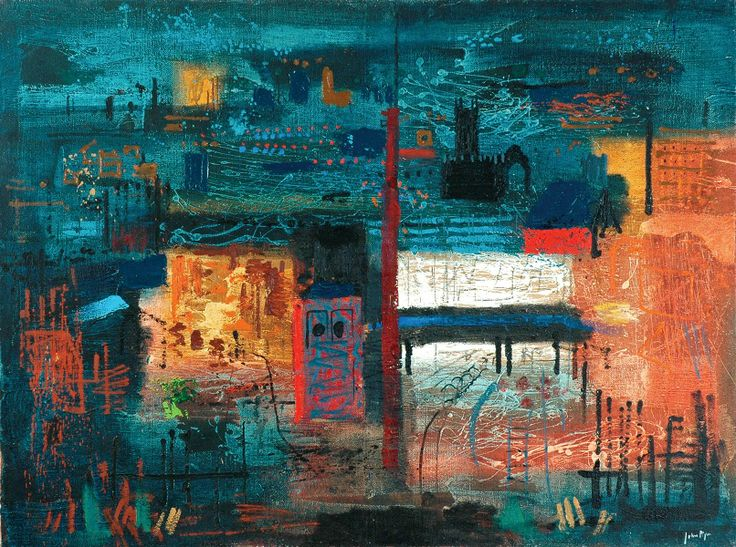 John Piper (1903–1992) Halifax No. 2, c.1961 Oil on board © Calderdale Museum and Arts