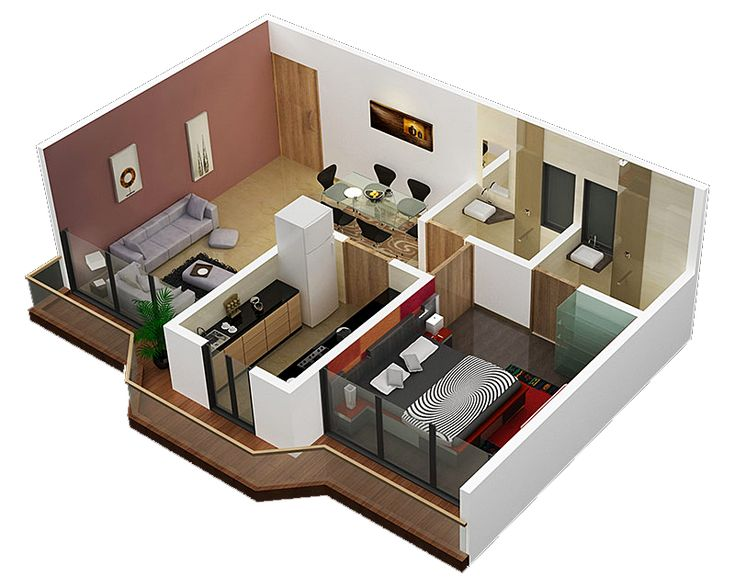 Plans for small apartment interior design 3 sweet home for Very small house interior design ideas