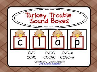 JD's Rockin' Readers: Turkey Trouble Sound Boxes {FREEBIE}