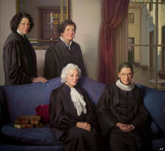The first four female Supreme Court Justices Sandra Day O'Connor, Ruth Bader Ginsburg, Sonia Sotomayor and Elena Kagan have their own portrait! Check it out the next time you're in Washington, D.C. It's in the National Portrait Gallery, Smithsonian Institution.