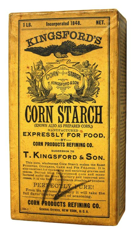 Kingsford's Corn Starch, Vintage Packaging