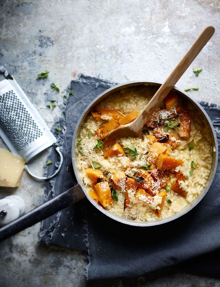 The River Cafe's autumnal pumpkin risotto recipe is one of their signature vegetarian dishes and easy to cook at home